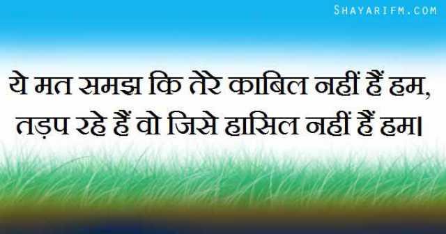 Attitude Shayari, Jinhein Haasil Nahi Hum