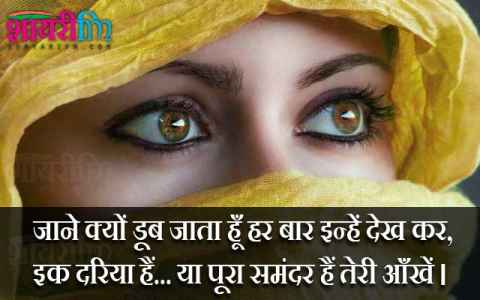 Shayari on Eyes, Samandar Hain Teri Aankhein