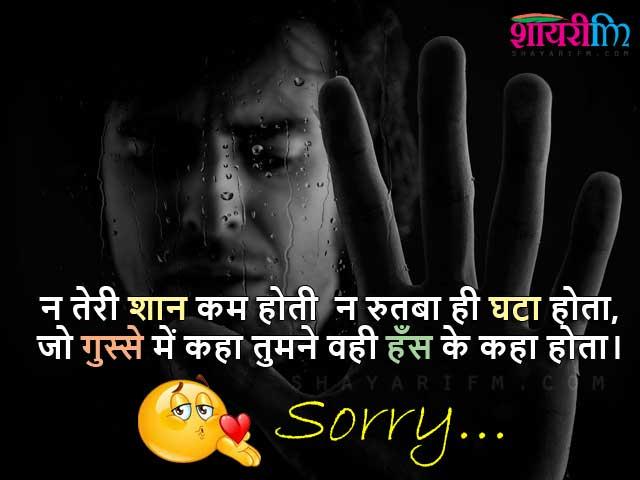 Hindi Sorry Shayari - Hans Ke Kaha Hota
